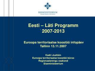 Eesti - L�ti programm