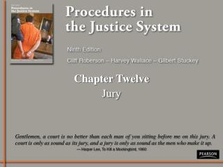 Chapter Twelve Jury