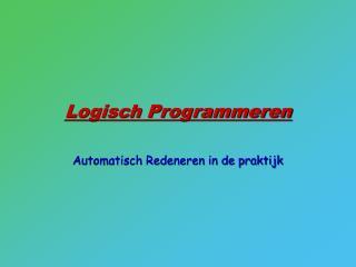 Logisch Programmeren