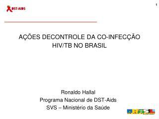 A��ES DECONTROLE DA CO-INFEC��O HIV/TB NO BRASIL