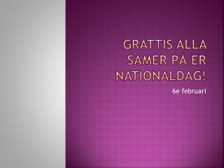 Grattis alla samer på er nationaldag!