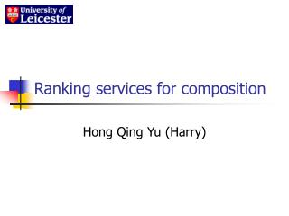 Ranking services for composition