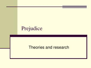theories for prejudice discrimination and stereotyping A summary of stereotypes and prejudice in 's social psychology  prejudice legitimizes discrimination because it apparently justifies one group's dominance over .