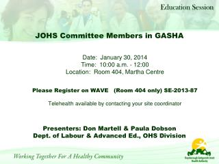 JOHS Committee Members in GASHA