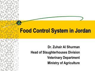 Food Control System in Jordan