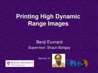 Printing High Dynamic Range Images