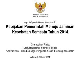 MENTERI KESEHATAN REPUBLIK INDONESIA