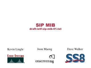SIP MIB draft-ietf-sip-mib-01.txt