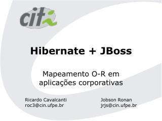 Hibernate + JBoss