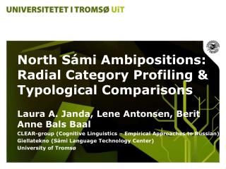 North S á mi Ambipositions:  Radial Category Profiling & Typological Comparisons