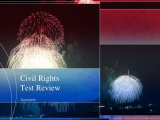 Civil Rights Test Review