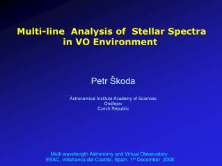 Multi-line  Analysis of  Stellar Spectra in VO Environment