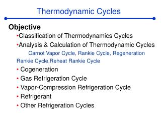 Thermodynamic Cycles