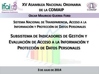 Sistema Nacional de Transparencia, Acceso a la Información y Protección de Datos Personales