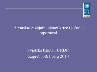 Hrvatska: Socijalni učinci krize i jačanje otpornosti