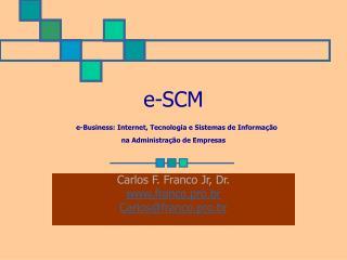 e-SCM e-Business: Internet, Tecnologia e Sistemas de Informação  na Administração de Empresas