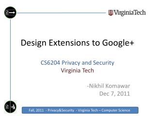 Design Extensions to Google+