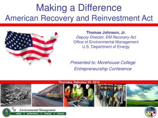 Making a Difference American Recovery and Reinvestment Act