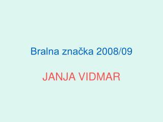 Bralna značka 2008/09