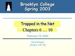 Brooklyn College Spring 2003