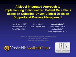 A Model-Integrated Approach to Implementing Individualized Patient Care Plans Based on Guideline-Driven Clinical Decisio