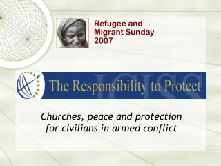 Churches, peace and protection for civilians in armed conflict
