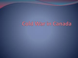 Cold War in Canada