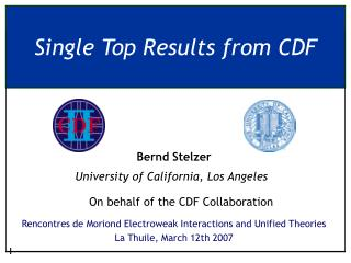 Single Top Results from CDF
