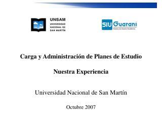 Carga y Administración de Planes de Estudio Nuestra Experiencia