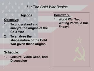 L1: The Cold War Begins