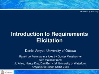 Introduction to Requirements Elicitation