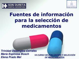Fuentes de información  para la selección de medicamentos