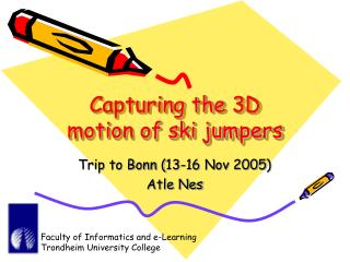 Capturing the 3D motion of ski jumpers