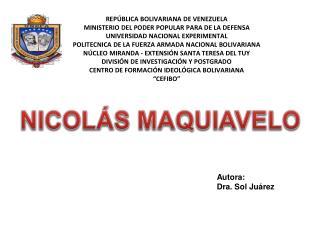 Autora: Dra. Sol Juárez