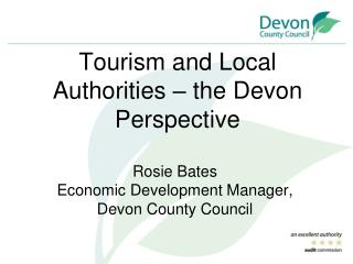Tourism and Local Authorities – the Devon Perspective