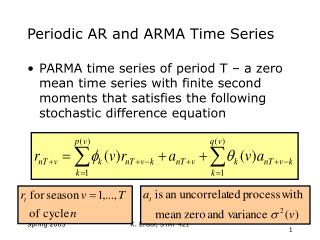 Periodic AR and ARMA Time Series