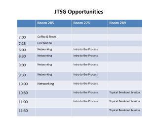 JTSG Opportunities