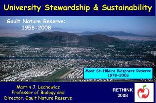 University Stewardship & Sustainability