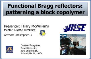 Functional Bragg reflectors: patterning a block copolymer