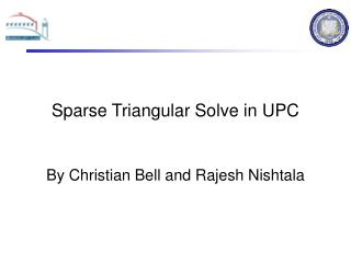 Sparse Triangular Solve in UPC