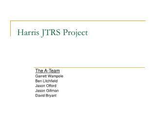 Harris JTRS Project