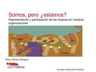 Somos, pero ¿estamos? Representación y participación de las mujeres en nuestras organizaciones