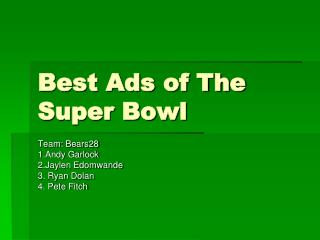 Best Ads of The Super Bowl