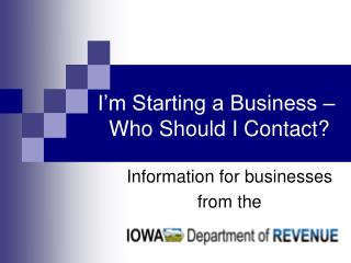 Information for businesses from the