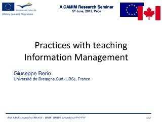 Practices with teaching Information Management