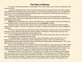 The Past of Warmia