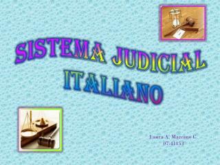 Sistema  Judicial  Italiano