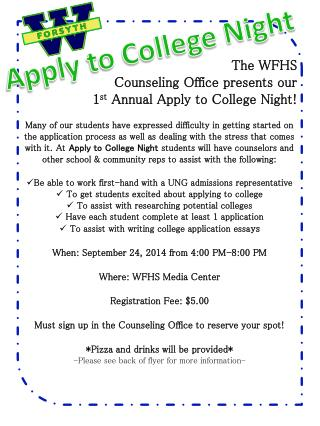 Apply to College Night