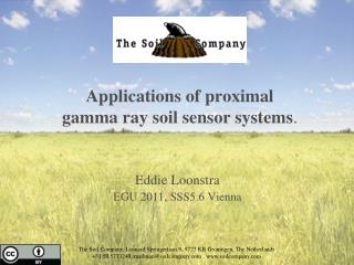 Applications of proximal  gamma ray soil sensor systems .