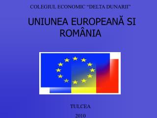 """COLEGIUL ECONOMIC """"DELTA DUNARII"""" UNIUNEA EUROPEAN Ă  SI ROM ÂNIA TULCEA 20 10"""